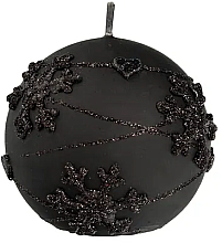 Parfémy, Parfumerie, kosmetika Dekorativní svíčka, koule, černá, 8 cm - Artman Snowflake Application