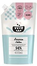 """Parfémy, Parfumerie, kosmetika Antibakteriální mýdlo pro děti """"Ananas a kokos"""" - Yope (doypack)"""