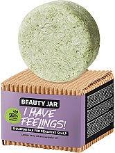 Parfémy, Parfumerie, kosmetika Tuhý šampon na citlivou pokožku hlavy s olejem levandule a jalovce - Beauty Jar I Have Feelings