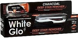Parfémy, Parfumerie, kosmetika Sada - White Glo Charcoal Deep Stain Remover Toothpaste (t/paste 100 ml + t/brush)