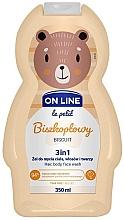 Parfémy, Parfumerie, kosmetika Přípravek na mytí vlasů, těla a obličeje Biscuit - On Line Le Petit Biscuit 3 In 1 Hair Body Face Wash