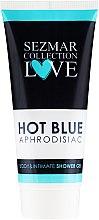 Parfémy, Parfumerie, kosmetika Sprchový intimní gel - Hristina Cosmetics Sezmar Collection Love Hot Blue Aphrodisiac Shower Gel