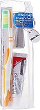 Parfémy, Parfumerie, kosmetika Cestovní sada pro ústní hygienu, oranžová - White Glo Travel Pack (t/paste/24g + t/brush/1 + t/pick/8)