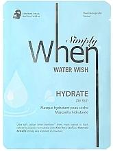 Parfémy, Parfumerie, kosmetika Hydratační maska pro suchou pokožku obličeje - When Simply Water Wish