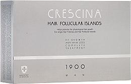 Parfémy, Parfumerie, kosmetika Komplex pro léčbu vypadávání vlasů u mužů - Crescina Hair Follicular Island Re-Growth + Anti-Hair Loss 1900 Man