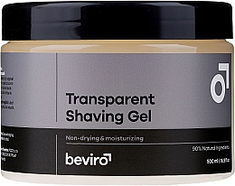 Parfémy, Parfumerie, kosmetika Gel na holení, průhledný - Beviro Transparent Shaving Gel