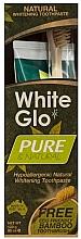 Parfémy, Parfumerie, kosmetika Sada Přírodní očištění - White Glo Pure & Natural (t/paste/85ml + t/brush/1)