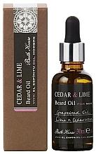 Parfémy, Parfumerie, kosmetika Bath House Cuban Cedar & Lime - Olej na bradu