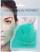 Parfémy, Parfumerie, kosmetika Kolagenová maska se zeleným čajem a vitamíny - Beauty Face Collagen Hydrogel Mask