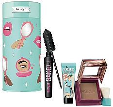 Parfémy, Parfumerie, kosmetika Sada - Benefit BADgal To The Bone Face & Eye Holiday Set (mascara/8.5g + bronzer/8g + primer/7.5ml)
