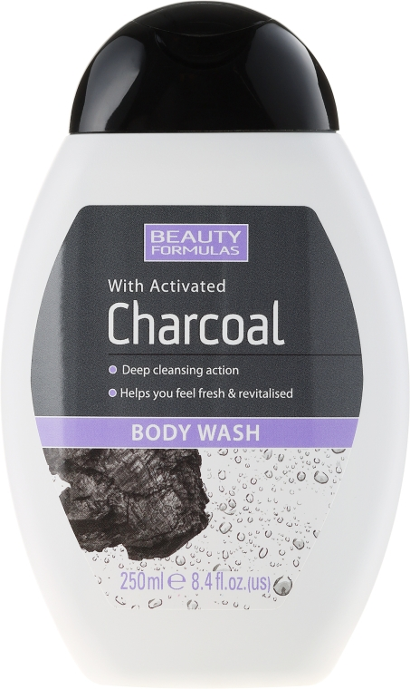 Sprchový gel s aktivním uhlím - Beauty Formulas Charcoal With Activated Body Wash