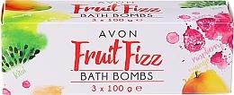 Parfémy, Parfumerie, kosmetika Sada - Avon Fruit Fizz Bath Bombs (bath bomb/3x100g)