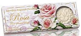 Parfémy, Parfumerie, kosmetika Sada prírodního mýdla Růže - Saponificio Artigianale Fiorentino Rosa Scented Soaps (soap/3pcsx125g)