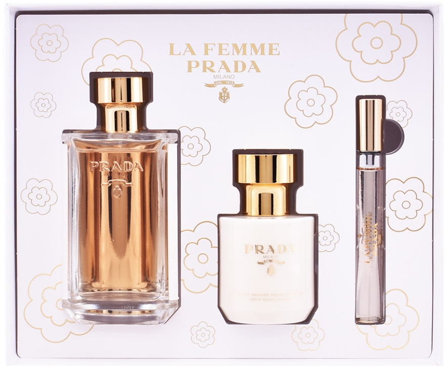 Prada La Femme Prada - Sada (edp/100ml + b/lot/100ml + edp/mini/10ml) — foto N1