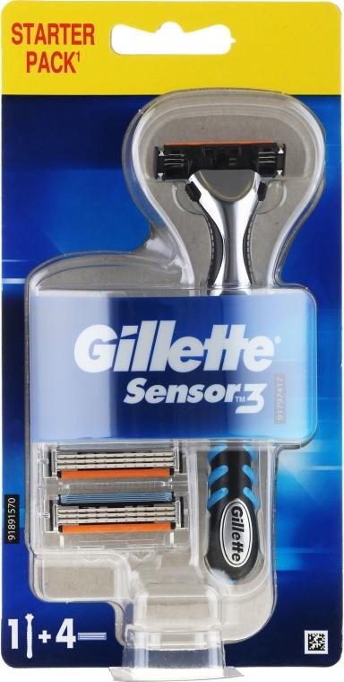 Holicí strojek se 4 náhradními hlavicemi - Gillette Blue 3