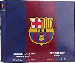 Parfémy, Parfumerie, kosmetika Air-Val International FC Barcelona - Sada (edt/100ml + deo/150ml)