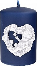 Parfémy, Parfumerie, kosmetika Dekorativní svíčka tmavo modrá, 7x10 cm - Artman Amore