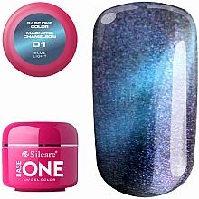 Parfémy, Parfumerie, kosmetika Gel na nehty - Silcare Base One Magnetic Chameleon UV Gel Color