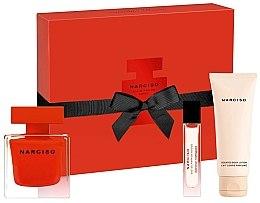 Parfémy, Parfumerie, kosmetika Narciso Rodriguez Narciso Rouge - Sada (edp/90ml + b/lot/75ml + edp/10ml)