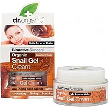Parfémy, Parfumerie, kosmetika Pleťový gel krém s extraktem z hlemýždího mucinu - Dr. Organic Bioactive Skincare Snail Gel Cream