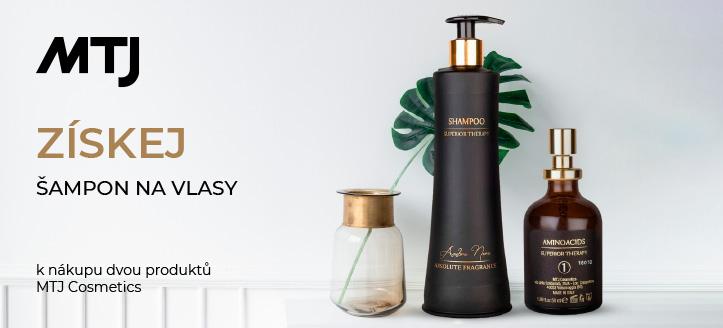 K nákupu dvou produktů MTJ Cosmetics získej šampon na vlasy jako dárek