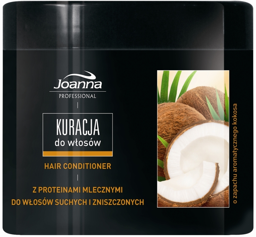 Kondicionér pro suché a poškozené vlasy s vůní kokosu - Joanna Professional Hair Conditioner — foto N2