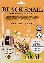 Parfémy, Parfumerie, kosmetika Pleťová látková maska s mucinem černého hlemýždě - Ekel Black Snail Ultra Hydrating Essence Mask