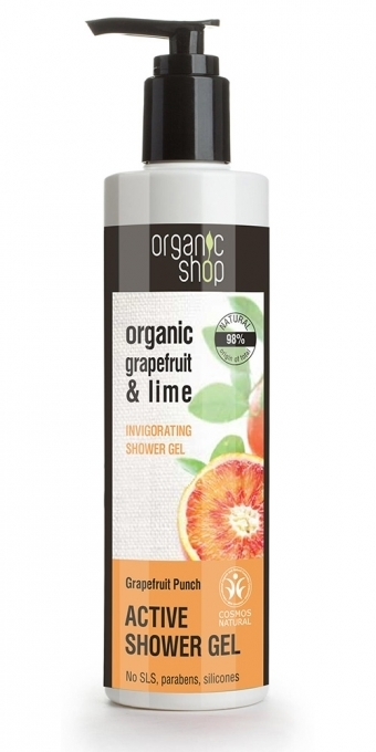 "Sprchový gel osvěžující ""Grapefruitový punč"" - Organic Shop Organic Grapefruit and Lime Active Shower Gel"
