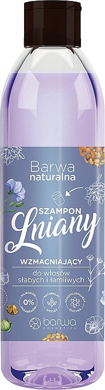 Posilující šampon s lněnými vlákny a s komplexem vitaminů - Barwa Natural Flax Shampoo With Vitamin Complex