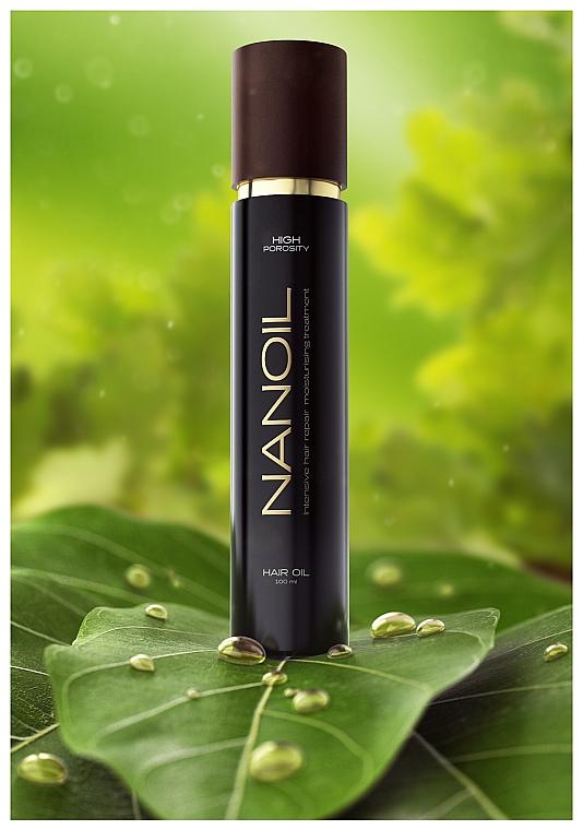 Olej na vlasy s vysokou pórovitostí - Nanoil Hair Oil High Porosity — foto N3