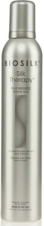 Pěna na vlasy - Biosilk Silk Therapy Mousse Medium Hold — foto N1