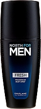 Parfémy, Parfumerie, kosmetika Parfémovaný tělový sprej - Oriflame North for Men Fresh Fragranced Body Spray