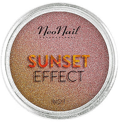 Třpytky na nehty Západ slunce - NeoNail Professional Sunset Effect — foto N1