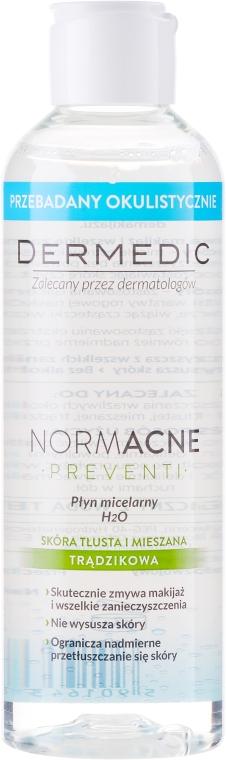 Čistící micelární tekutina pro odlíčení pro kombinovanou a mastnou pleť - Dermedic NormAcne Preventi H2O Micellaire Water — foto N1