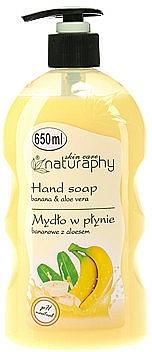 Tekuté mýdlo na ruce Banán a aloe vera - Bluxcosmetics Naturaphy Hand Soap