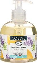 Parfémy, Parfumerie, kosmetika Šetrný krém na mytí rukou s organickou levandulí a citronem - Coslys Hand & Nail Care Hand Wash Cream Lemon & Lavender