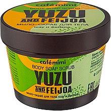 "Parfémy, Parfumerie, kosmetika Mýdlo-peeling pro tělo ""Yuzu a Feijoa"" - Cafe Mimi Body Soap Scrub Yuzu And Feijoa"