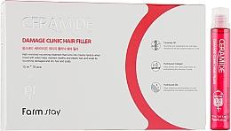 Parfémy, Parfumerie, kosmetika Hydratační filler na vlasy s ceramidy - FarmStay Ceramide Damage Clinic Hair Filler