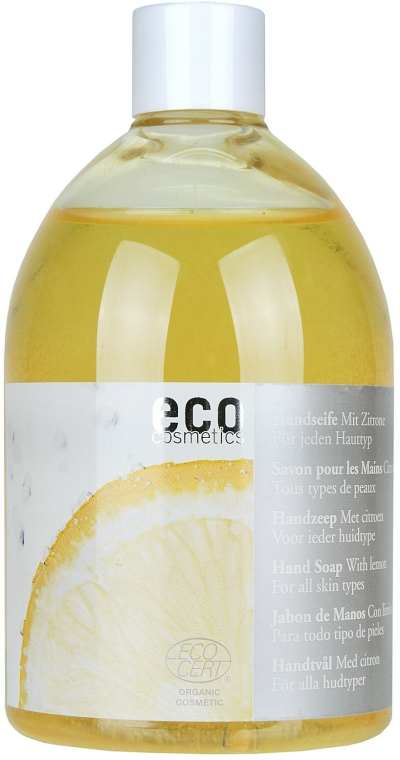 Eko mýdlo s citronovým olejem (níhradní náplň bez dávkovače) - Eco Cosmetics Eco Hand Soap With Lemon  — foto N1