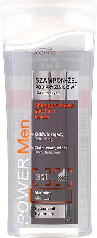 Sprchový gel a šampon 3 v 1 - Joanna Power Men Shampoo&ShowerGel