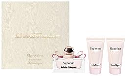 Parfémy, Parfumerie, kosmetika Salvatore Ferragamo Signorina - Sada (edp/50ml + body/lot/50ml + sh/gel/50ml)