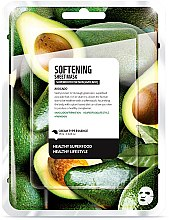 "Parfémy, Parfumerie, kosmetika Textilní maska na obličej ""Avokádo"" - Superfood For Skin Softening Sheet Mask"