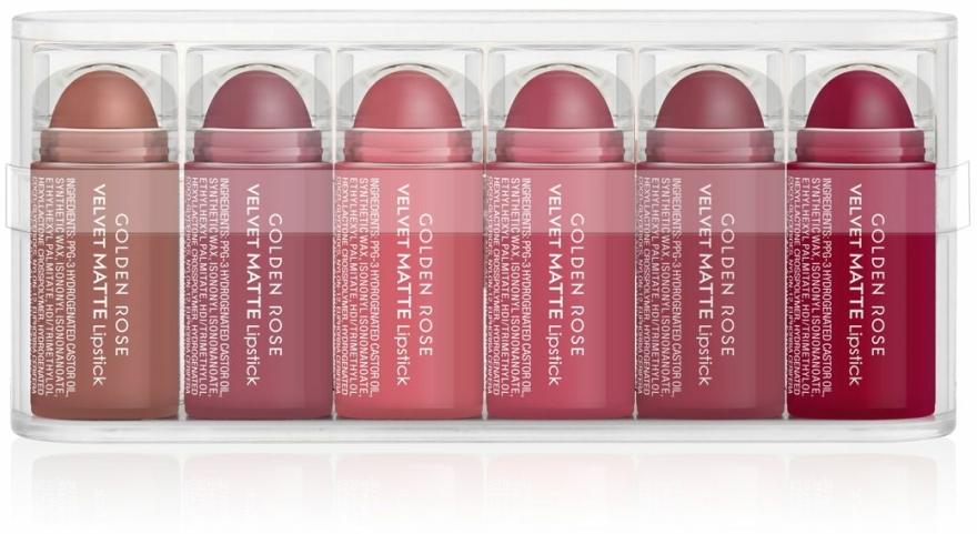 Sada matných rtěnek - Golden Rose Matte Lipsticks Mini Set (6x0,5g)
