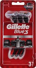 Parfémy, Parfumerie, kosmetika Sada jednorázových holicích strojů, 3ks - Gillette Blue 3 Red