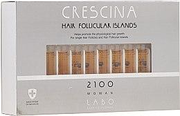 Parfémy, Parfumerie, kosmetika Pleťový krém na stimulaci růstu vlasů pro ženy 2100 - Crescina Hair Follicular Island 2100 Woman