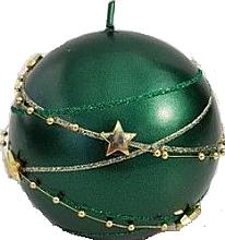 Parfémy, Parfumerie, kosmetika Dekorativní svíčka, zelená, koule 10 cm - Artman Christmas Garland