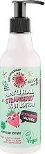 """Parfémy, Parfumerie, kosmetika Tělové mléko """"Jahodová dovolená"""" - Planeta Organica Natural Body Lotion Strawberry Vacation"""