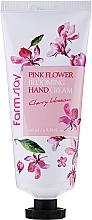Parfémy, Parfumerie, kosmetika Krém na ruce Třešňový květ - FarmStay Pink Flower Blooming Hand Cream Cherry Blossom