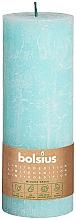Parfémy, Parfumerie, kosmetika Válcová svíčka, modrá, 190x68 mm - Bolsius