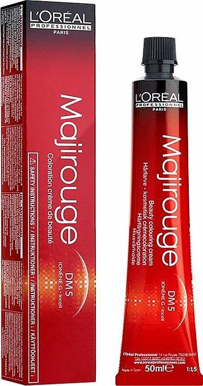 Krémová barva na vlasy - L'Oreal Professionnel Majirouge DM5 — foto N1